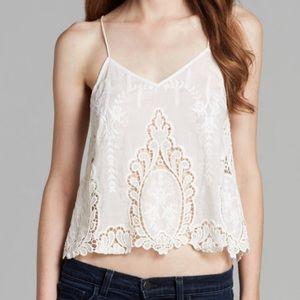 DOLCE VITA |Sabelle Embroidered Lace Appliqué Tank